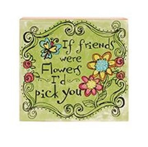 161-72079 Friends Were Flowers Wall Box Sign - Pack of 5