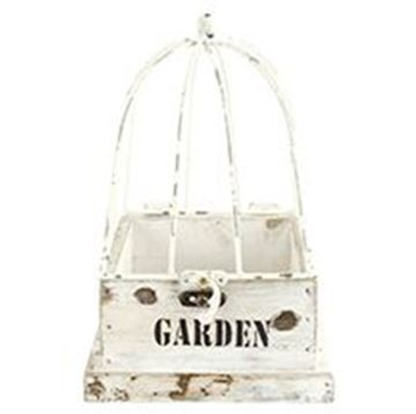 161-72145 Blossom Bucket Garden White Planter Cage - Pack of 3