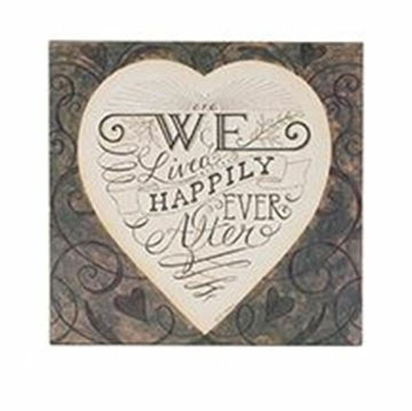 163-37496 We Will Live Happily Ever Wall Box Sign - Pack of 5
