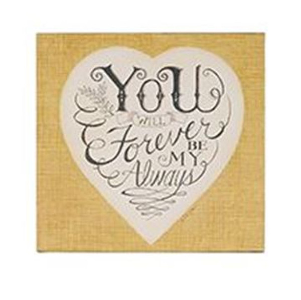 163-37497 Forever Be My Always'Wall Box Sign - Pack of 5