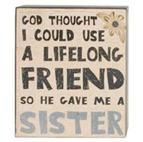 164-37822 Lifelong Friend Sister Wall Box Sign - Pack of 6