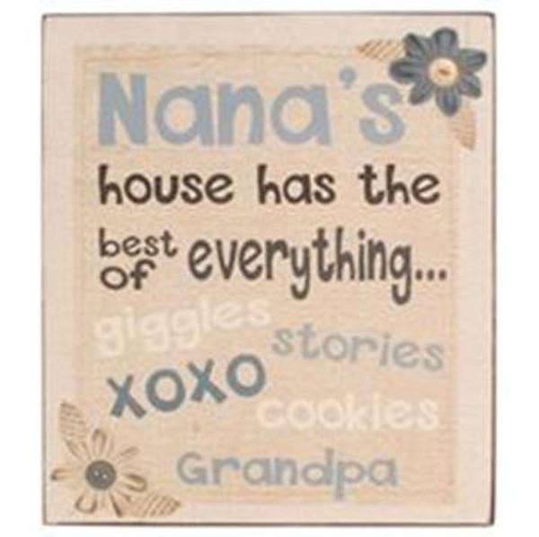 164-37823 Blossom Bucket Nana's House Wall Box Sign - Pack of 6