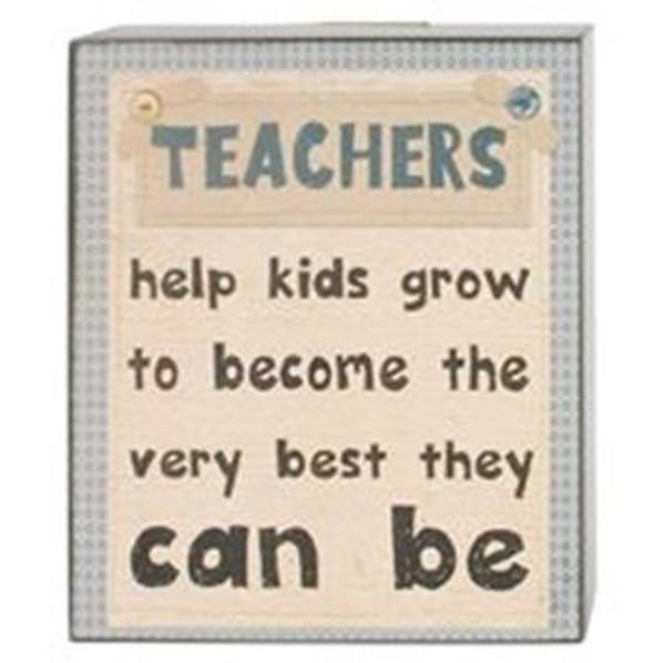 164-37825 Blossom Bucket Teachers Help Wall Box Sign - Pack of 6