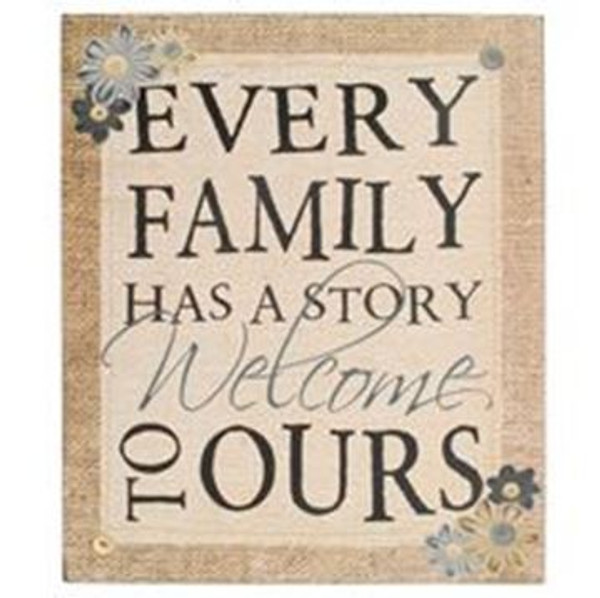 164-37826 Every Family Has Story Wall Box Sign - Pack of 4