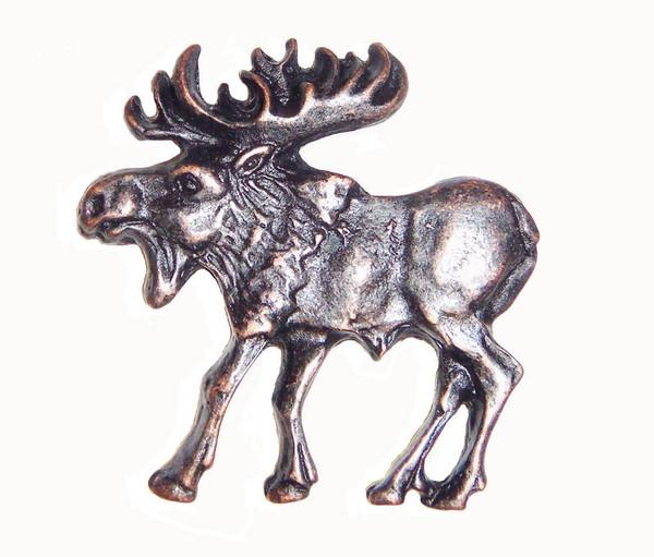 002-ORB Walking Moose Left Facing Cabinet Knob - Oil Rubbed Bronze