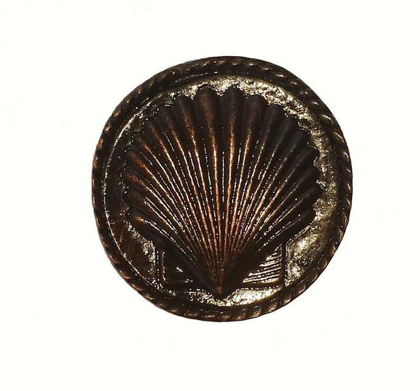 050-ORB Small Sea Shell Cabinet Knob - Oil Rubbed Bronze