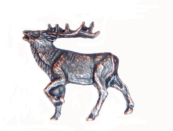 051-ORB Walking Elk Left Facing cabinet Knob - Oil Rubbed Bronze