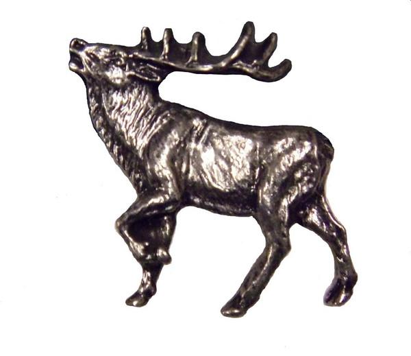 051-P Walking Elk Left Facing cabinet Knob - Pewter