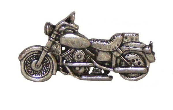 107-P Motorcycle Cabinet Knob - Pewter by Buck Snort Lodge