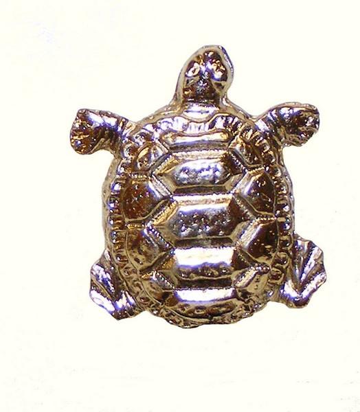 111-N Turtle Cabinet Knob - Nickel by Buck Snort Lodge