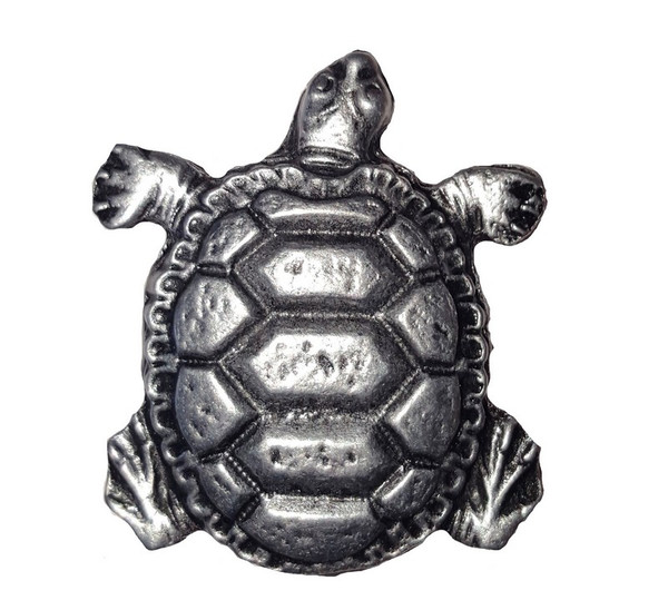 111-P Turtle Cabinet Knob - Pewter by Buck Snort Lodge
