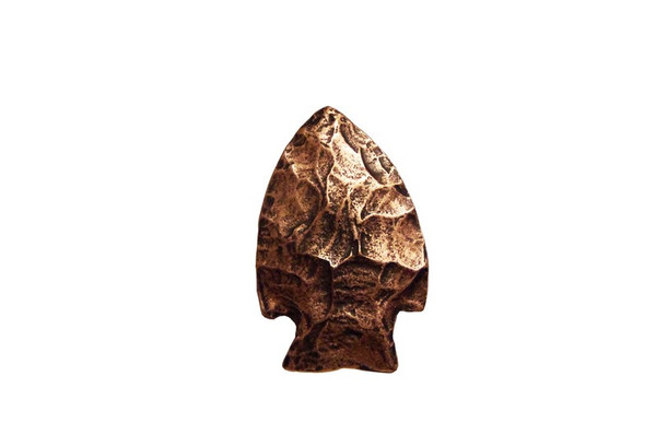 143-AC Arrowhead Cabinet Knob - Antique Copper by Buck Snort Lodge