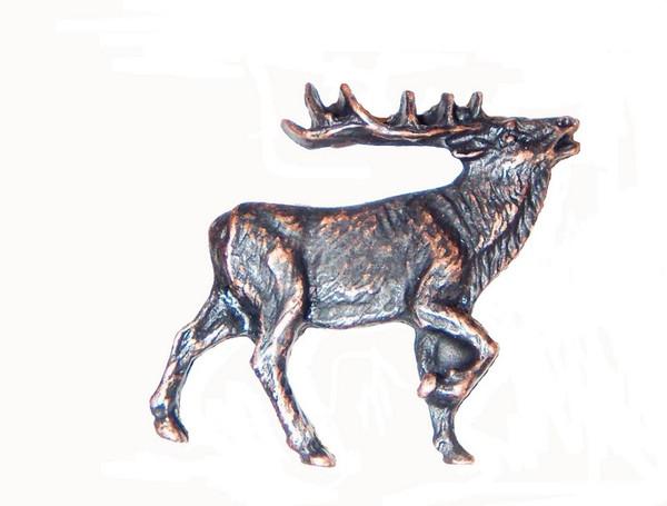 271-ORB Walking Elk Right Facing Cabinet Knob - Oil Rubbed Bronze