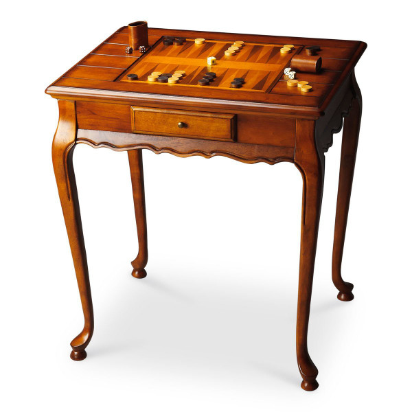 "Butler Bannockburn Olive Ash Burl Game Table 1694101 ""Special"""
