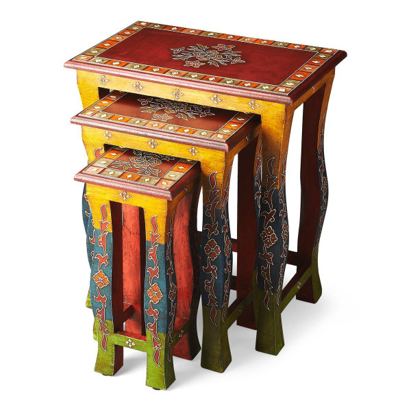 Butler Sasha Hand Painted Nesting Tables 1893290
