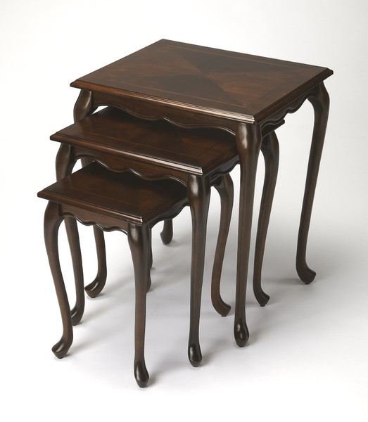 """Butler Thatcher Plantation Cherry Nest Of Tables 2306024 """"Special"""""""