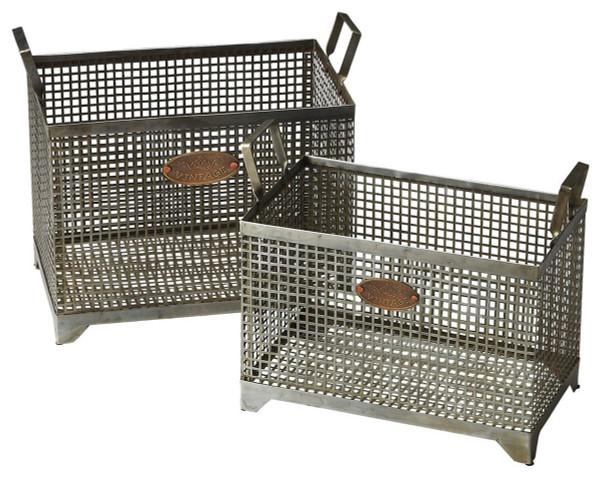 "Butler Rowley Iron Storage Basket Set 2549016 ""Special"""