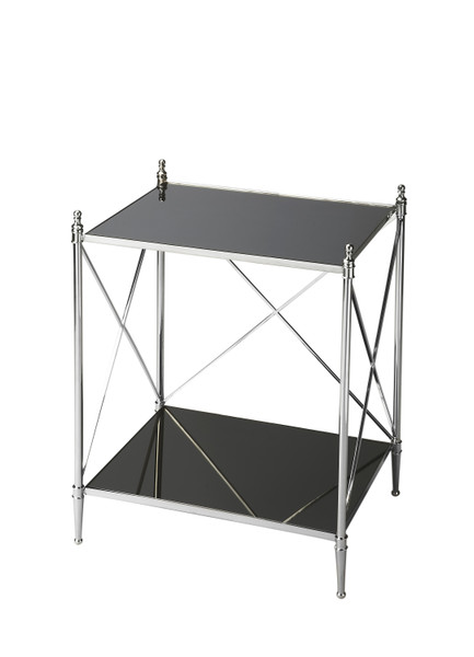 Butler Deidre Glass & Metal End Table 2862220