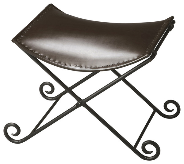 """Butler Jeremy Leather & Metal Stool 2892025 """"Special"""""""