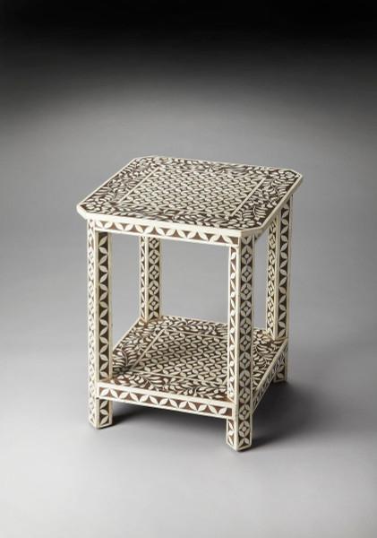 Butler Amelia Brown Bone Inlay Side Table 3449326