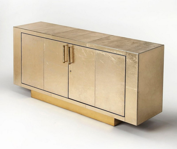 """Butler Francois Gold Leather Buffet 3736350 """"Special"""""""