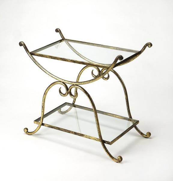 "Butler Desdemona Gold Serving Table 3904025 ""Special"""