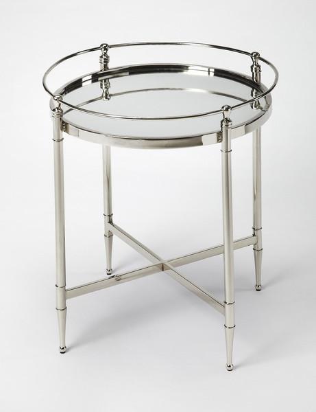 Butler Crosby Metal & Mirror End Table 3939140