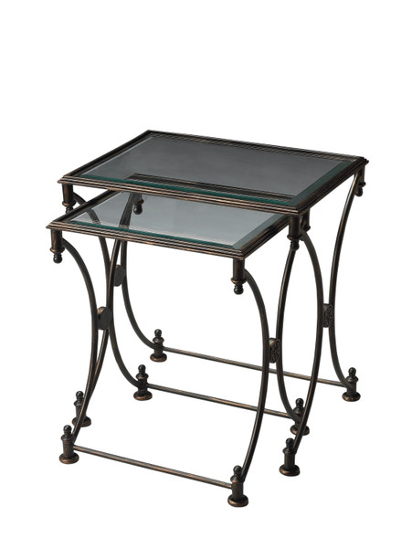 "Butler Beverly Metal Nesting Tables 4012025 ""Special"""