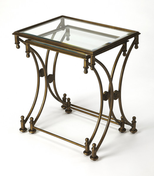 "Butler Beverly Antique Gold Nesting Tables 4012226 ""Special"""