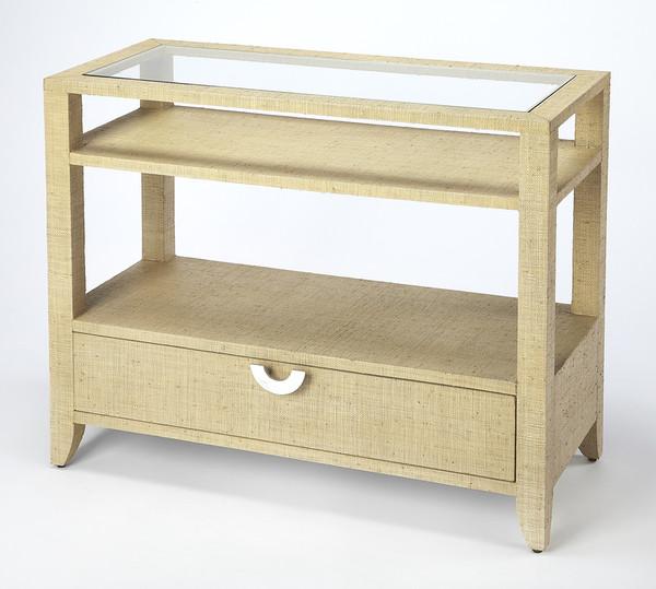 Butler Amelle Cream Raffia Console Table 4358349