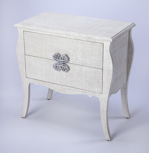 "Butler Felicia White Raffia Accent Chest 4367405 ""Special"""