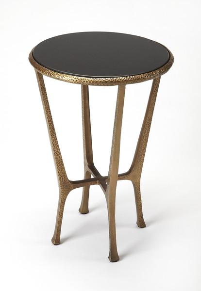 Butler Flavio Metal & Stone End Table 4418226