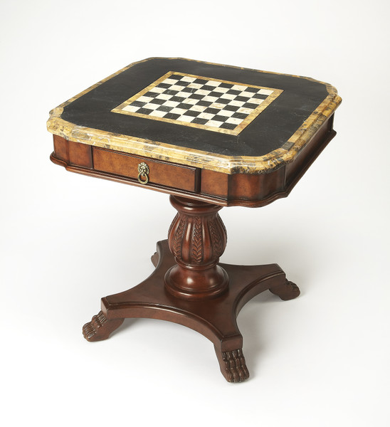 """Butler Carlyle Fossil Stone Game Table 506070 """"Special"""""""