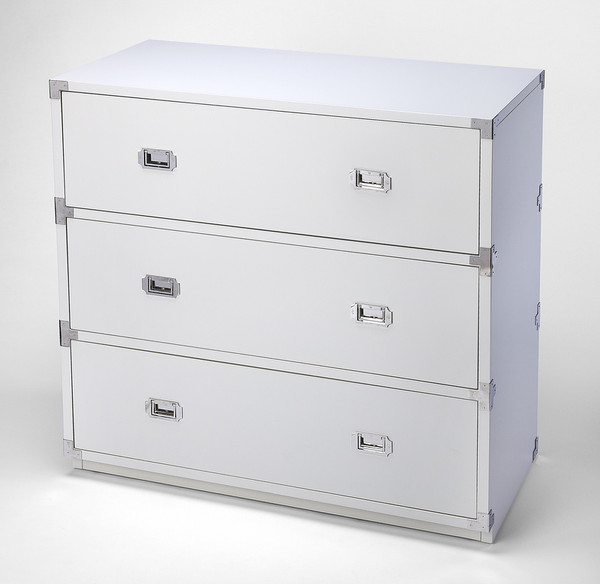 Butler Anew White 3 Drawer Campaign Chest 5256288