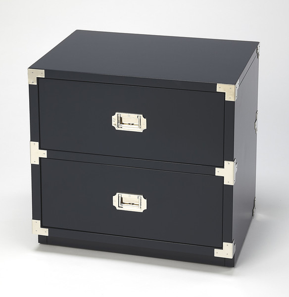 Butler Anew Blue 2 Drawer Campaign Chest 5257291