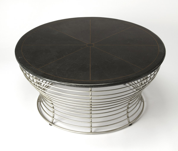 Butler Fleming Fossil Stone & Metal Coffee Table 5274025