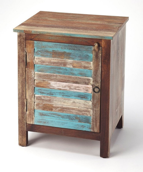 Butler Rustic Shutter Painted Accent Cabinet 5317290