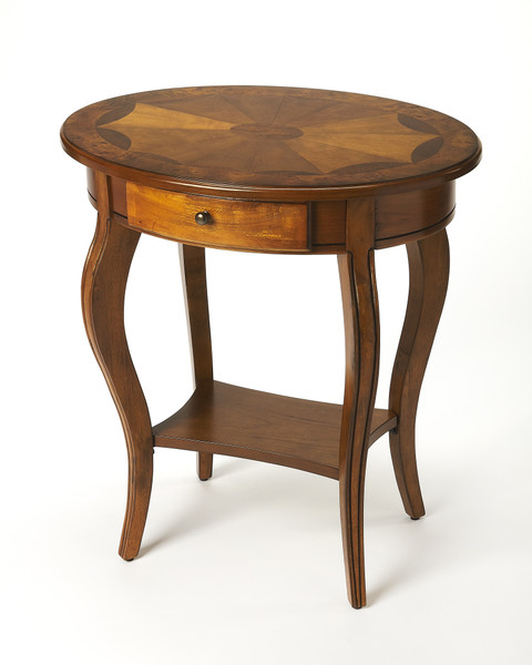 """Butler Jeanette Olive Ash Burl Oval Accent Table 532101 """"Special"""""""