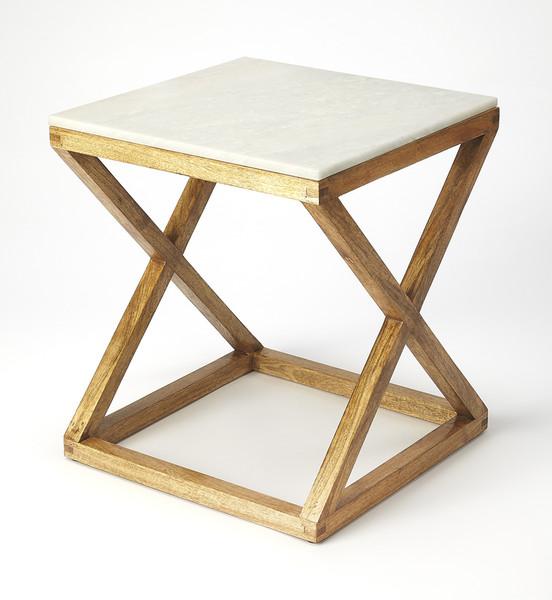 Butler Braylon Marble & Wood End Table 5329312