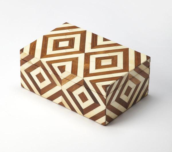 Butler Maya Wood & Bone Inlay Storage Box 6116338