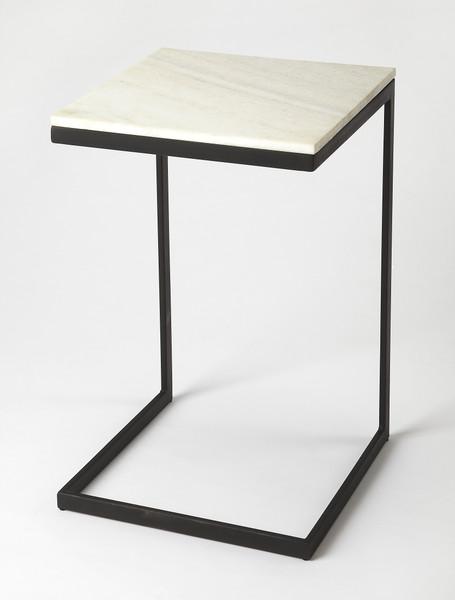 Butler Lawler Black Metal & Marble End Table 9349295