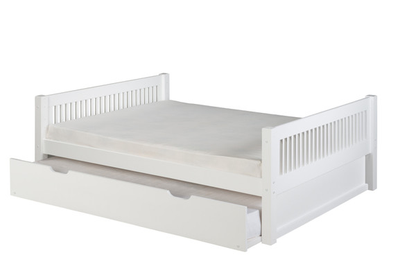 Camaflexi Full Size Platform Bed w/ Trundle-Mission Style-Cappuccino C1412_TR