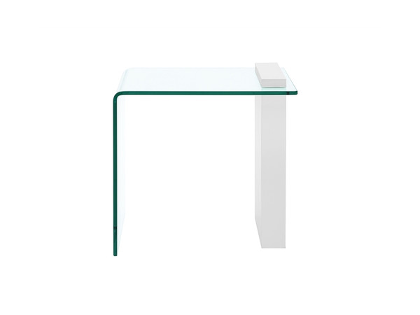 Casabianca Buono High Gloss White Lacquer End Table CB-1154-END-WH