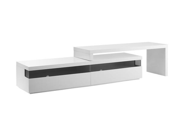 Easy White Lacquer Extendable Entertainment Center CB-3980TV
