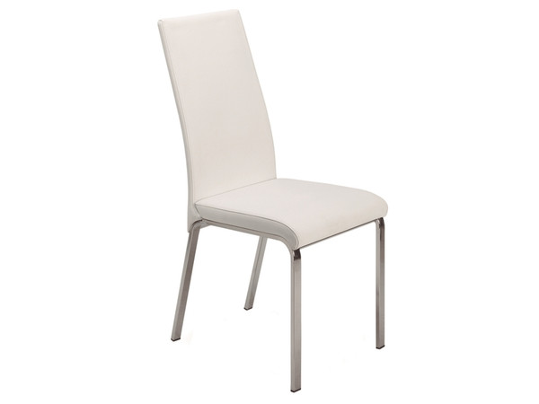 Casabianca Loto Italian White Leather Dining Chair TC-2007-WH