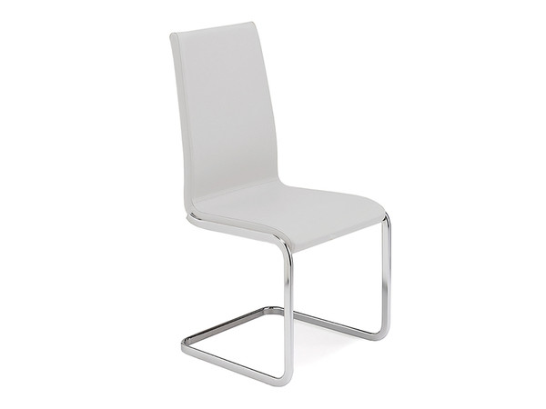 Casabianca Aurora Italian White Leather Dining Chair TC-2020-WH