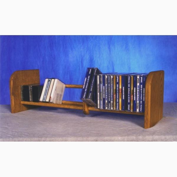101 Wood Shed Solid Oak 1 Row Dowel CD Rack