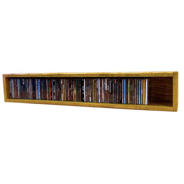 103-3 Wood Shed Solid Oak Desktop Or Shelf CD Cabinet
