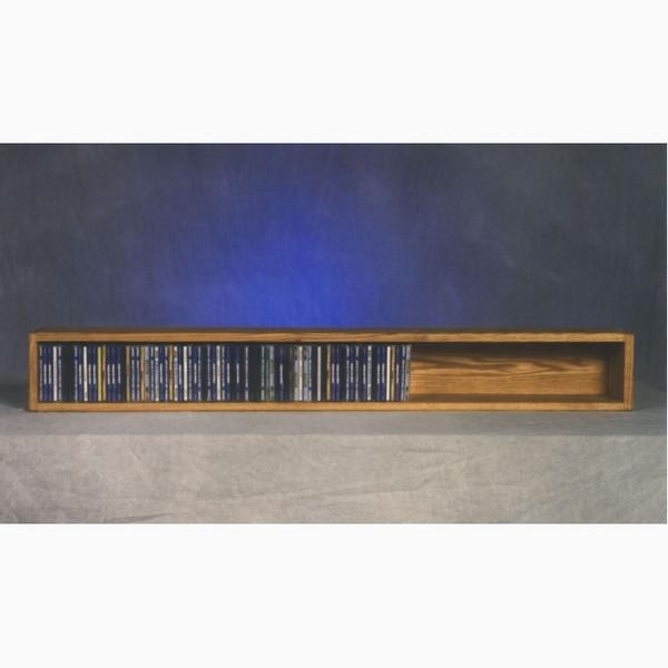 103-4 Wood Shed Solid Oak Wall Or Shelf Mount CD Cabinet