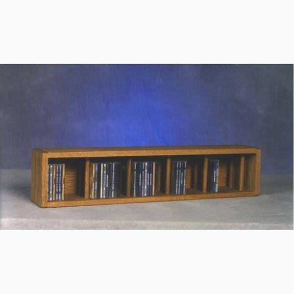 103D-3 Wood Shed Solid Oak Desktop Or Shelf CD Cabinet